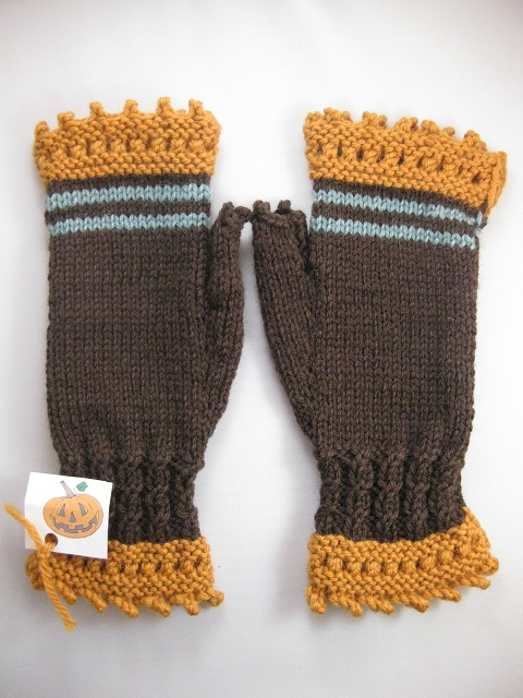 Halloween Fingerless Gloves